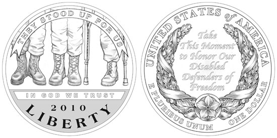 Disabled Veterans Silver Dollar