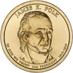US Mint Offers James K. Polk Presidential Dollar Rolls