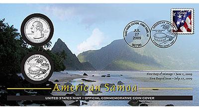 American Samoa Coin Cover