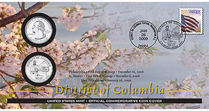 District of Columbia Coin Cover