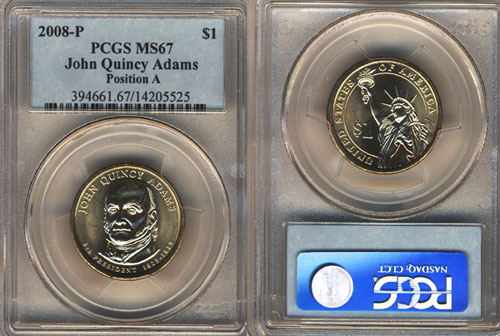 PCGS Graded Presidential Dollar