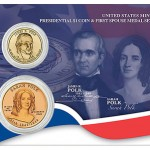US Mint Offers James K. Polk Dollar and Sarah Polk Medal Set