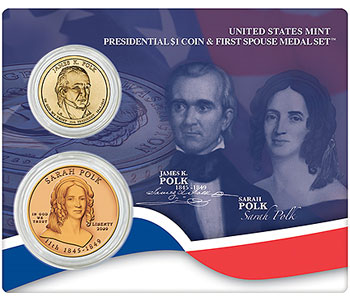 Polk Coin and Medal Set