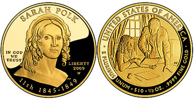 Sarah Polk First Spouse Gold