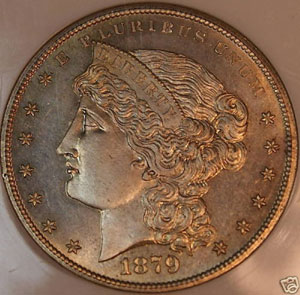 Stolen Pattern 1879 Silver Dollar