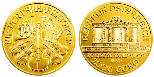 20 ounce 2009 Gold Philharmonic