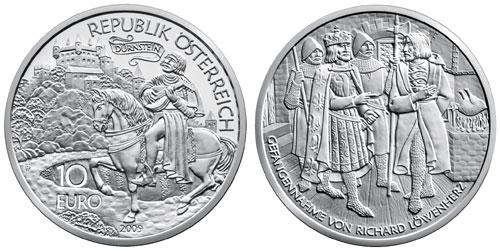 Richard Lionheart 10 Euro Silver Coin