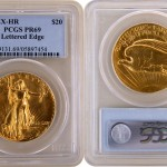 Finest Known 1907 Ultra High Relief Saint Gaudens Gold Double Eagle on Display