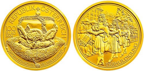 2009 100€ Gold Archducal Crown of Austria