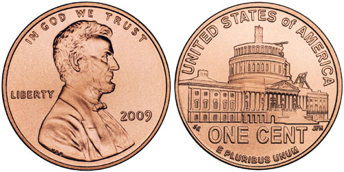 2009 Lincoln Cent Presidency Design