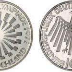 1972 Munich Olympics German Silver Coins