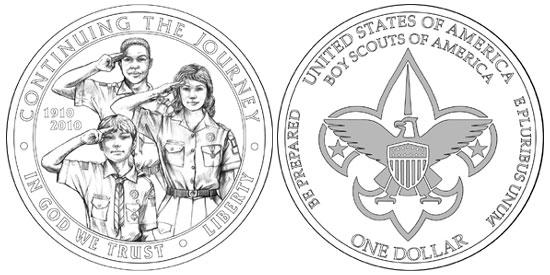 Boy Scouts Silver Dollar