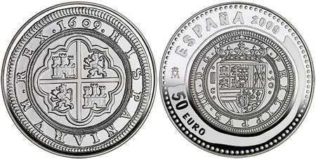 50 Euro Cincuentin Silver Proof