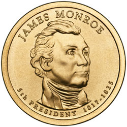 James Monroe Presidential Dollar issued in 2008