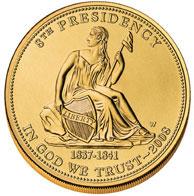 Martin Van Buren's Liberty Gold coin