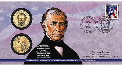 Zachary Taylor Coin Cover