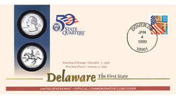 Delaware First Day Coin Cover