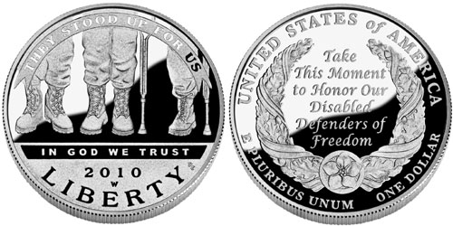 2010 Disabled Veterans Silver Dollar