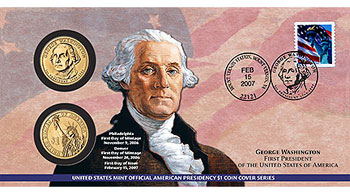 Washington Dollar First Day Coin Cover