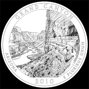 Design candidate for Grand Canyon Quarter. Final design unknown.