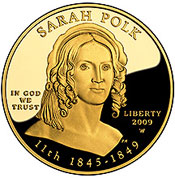 Sarah Polk Gold Coin