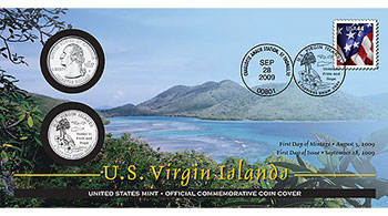 U.S. Virgin Islands First Day Coin Cover