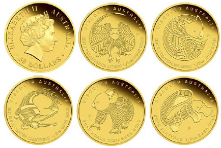Discover Ausralia the Dreaming Gold Coins