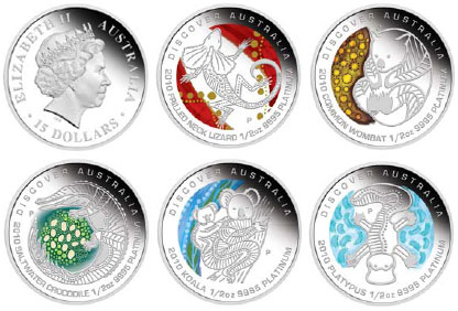 Discover Australia The Dreaming Platinum Coins
