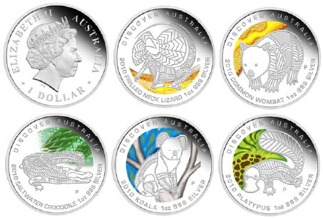 Discover Australia the Dreaming Silver Coins