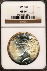 NGC Peace Dollar