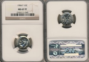Roosevelt Dime NGC MS 67 FT