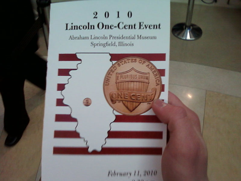 2010 Lincoln One Cent Launch Ceremony