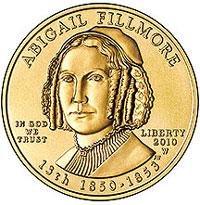 Abigail Fillmore First Spouse Gold Coin