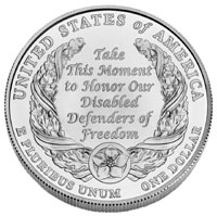 American Veterans Disabled for Life Silver Dollar
