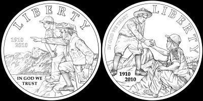 Boy Scouts Coin Designs