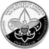 2010 Boy Scouts Silver Dollar