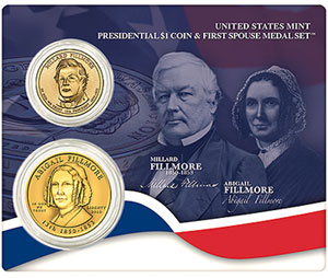 Presidential $1 Coin & First Spouse Medal Set