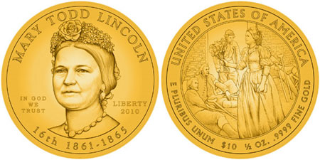 Mary Todd Lincoln Gold Coin