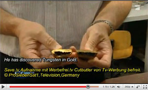 Gold Plated Tungsten Bar