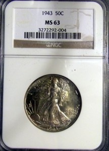 1943 Walking Liberty Half MS-63