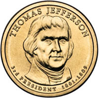 Thomas Jefferson Presidential Dollar