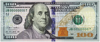 New $100 Bill Front