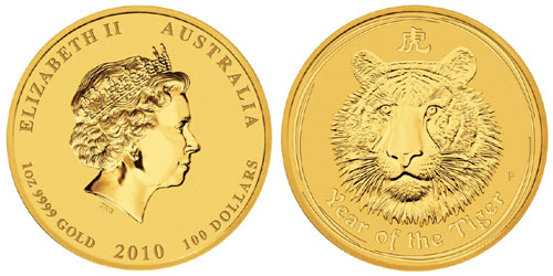 Year of the Tiger Gold Coin