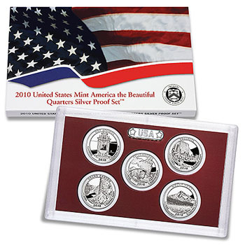 America the Beautiful Quartes Silver Proof Set