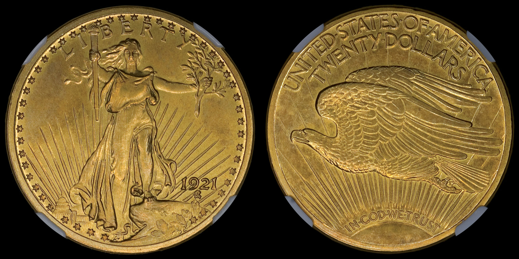 Proof 1921 Saint-Gaudens Double Eagle