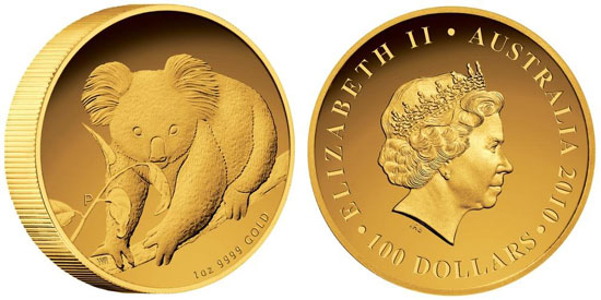 2010 Gold Proof Koala