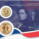 US Mint Releases Franklin and Jane Pierce Presidential $1 Coin and First Spouse Medal Set