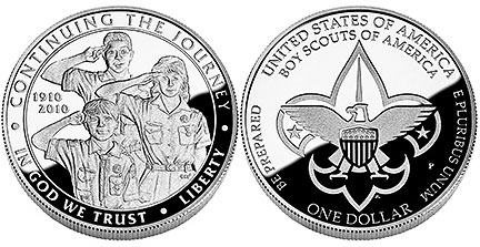 Proof Boy Scouts coin