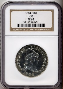 Silver Proof 1804 $10 Pattern NGC PF 64 (Photo: Rare Coin Wholesalers)