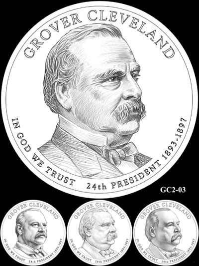 Grover Cleveland Presidential Dollar (second term)